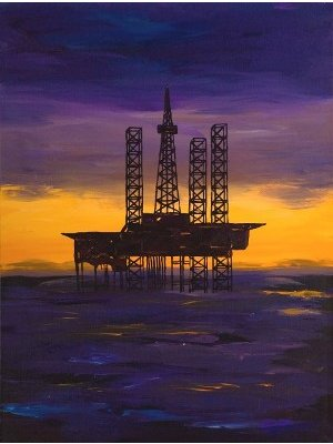 Greg Evans, 'Offshore Eiffel Tower,' Acrylic/Canvas