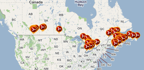 Canadian Wind Energy Installations