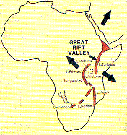 the great east african rift valley The great rift valley olduvai gorge,  there are only two rift valleys on earth within continental crust, the baikal rift valley and the east african rift.