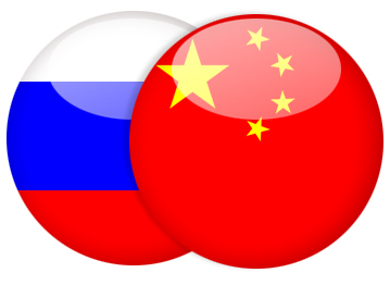 2011 china russia flags