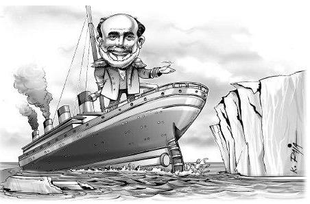 bernanke titanic cartoon