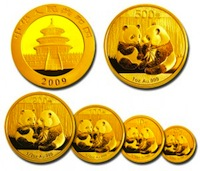 dec 2010 china gold coins