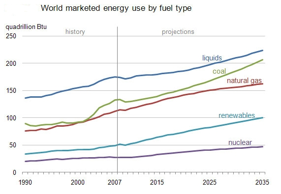 World Energy Use by Fuel