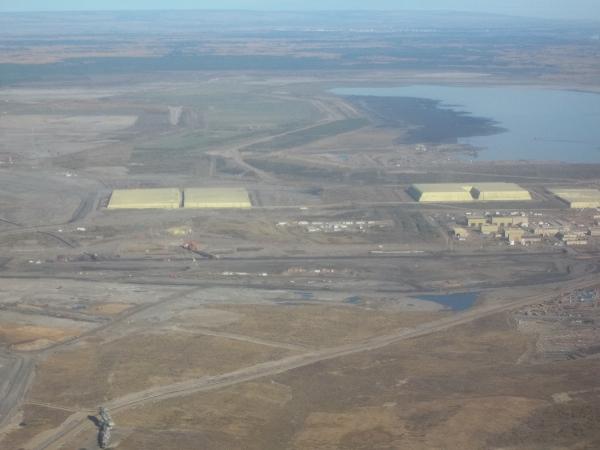 Alberta Oil Sands Sulphur Piles
