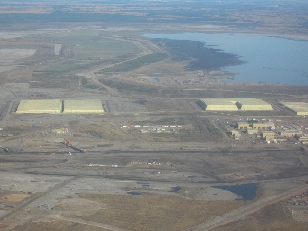 Ft. McMurray Tar Sands Sulfur Piles