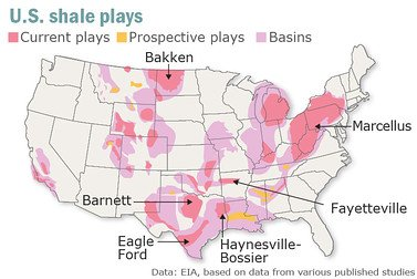shale plays in america 120611