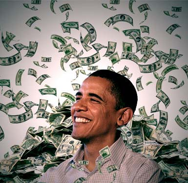 obama making it rain