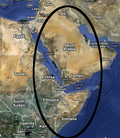 Saudi Arabia Oil Map
