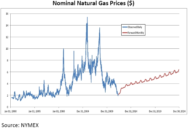NYMEX Future Natural Gas Prices