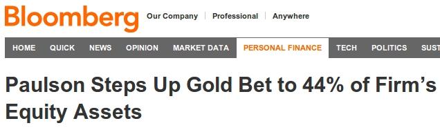 Paulson Buys Gold