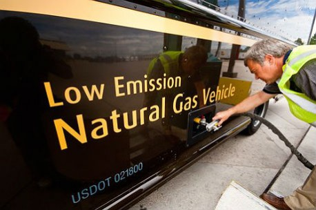 Natural Gas Delivery Truck