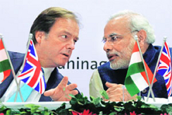 Hugo Swire and Narendra Modi