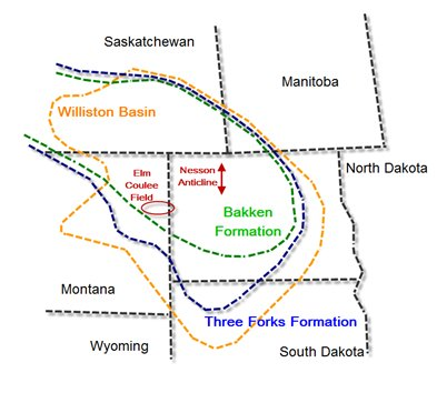 bakken three forks map