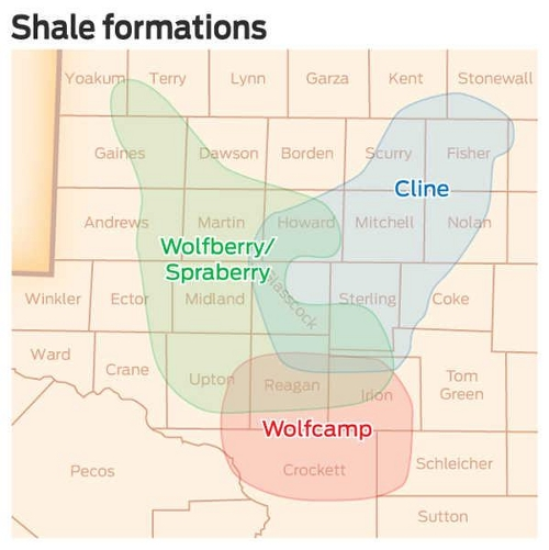 wolfberry shale map