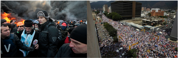 Ukraine and Venezuela March 2014
