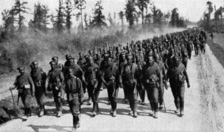 russian troops first world war