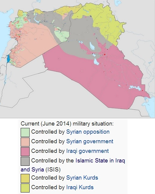 Middle East Map Iraq ISIS