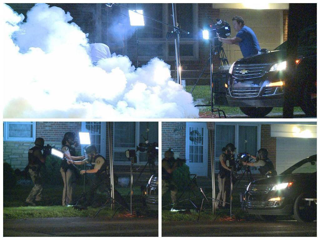 Police Remove Journalist Equipment Ferguson