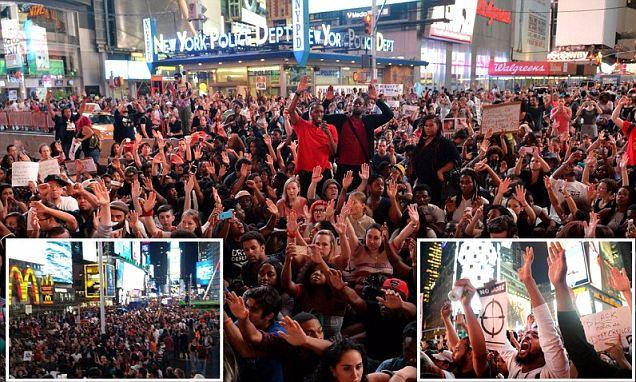 Ferguson Protest Times Square