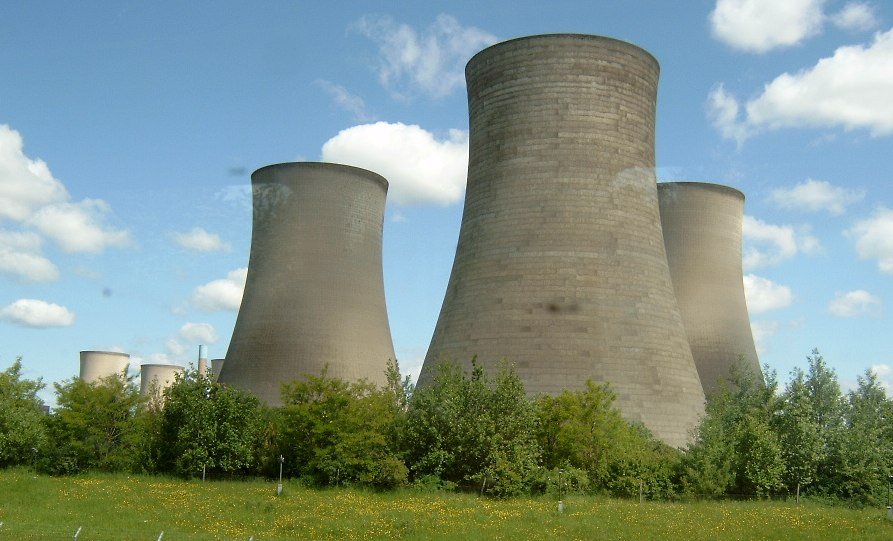 cooling tower nuclear uk power plant