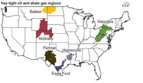 The Six US Shale Plays To Change The World Forever - Map of us shale plays
