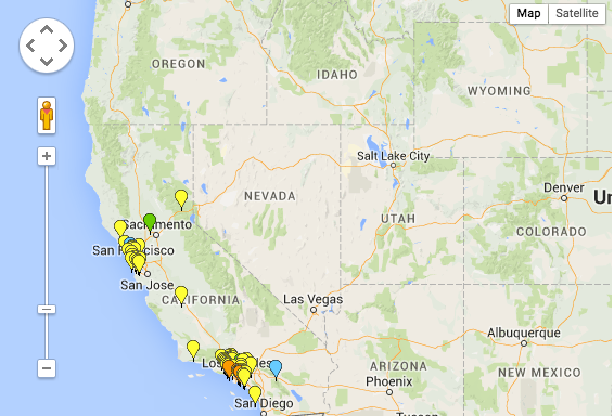 Fuel Cell Station Map