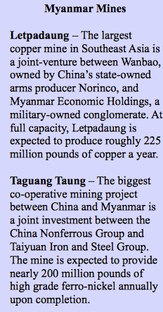 myanmar mines