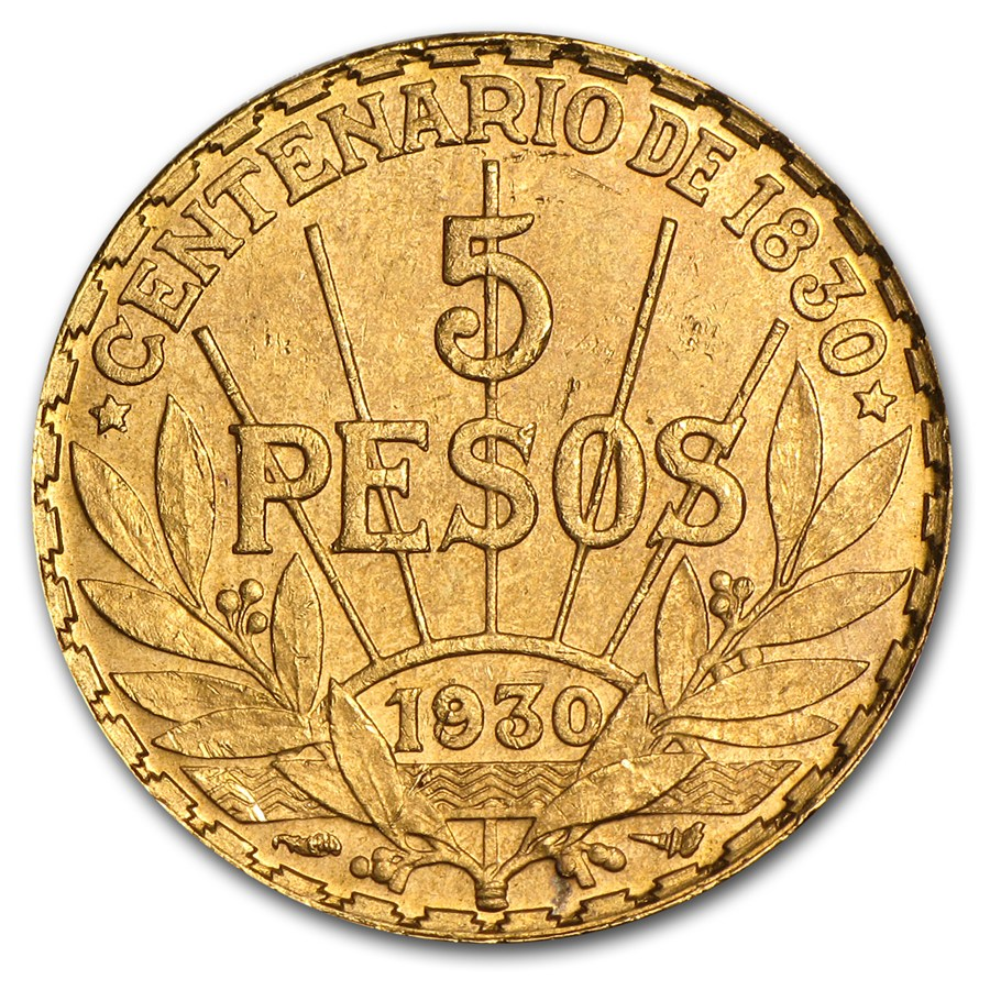 1930 Uruguay gold peso 2