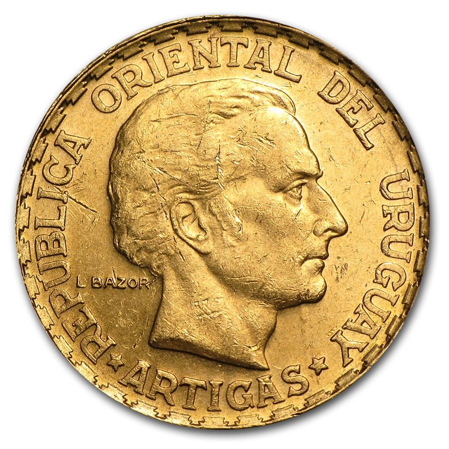 1930 Uruguay gold peso 1