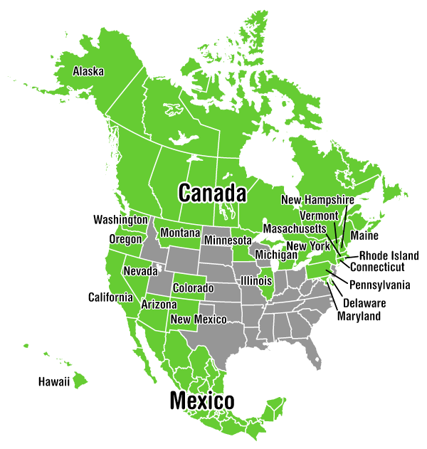 Investing In The Great North American Legal Cannabis Trade - Marijuana legal us maps
