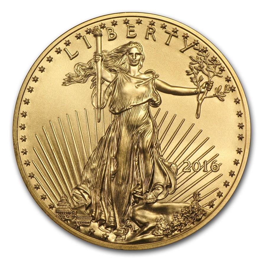 2016 American Gold Eagle Obverse