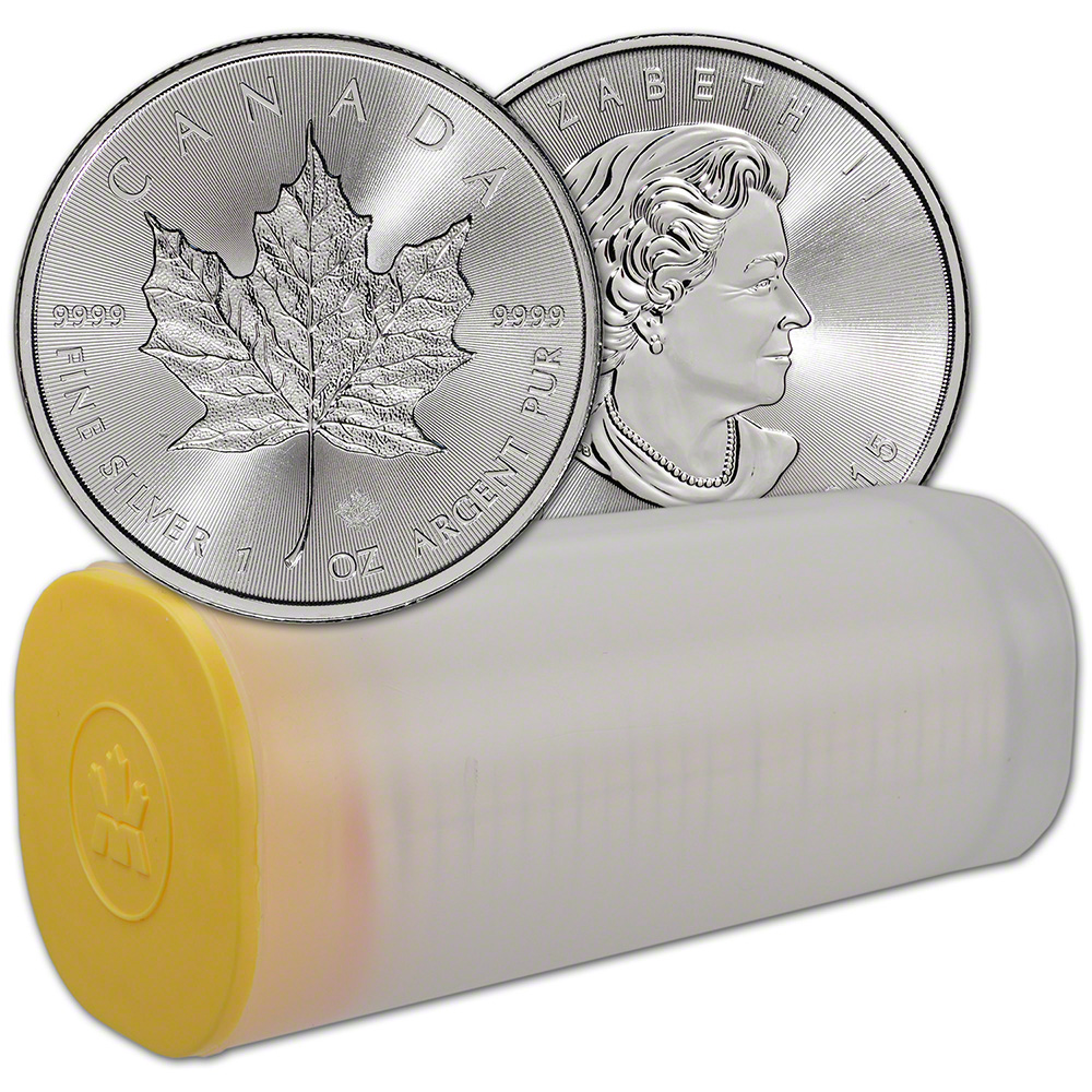 Canadian Silver Maple Leaf Tube (20 Count)