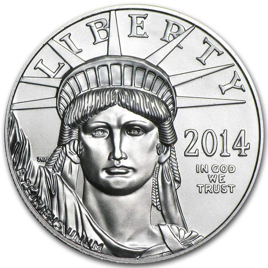 2014 American Platinum Eagle Obverse
