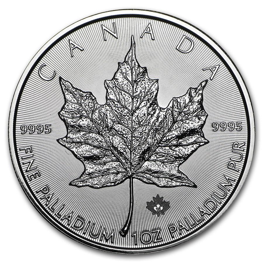 2015 Canadian Palladium Maple Leaf Reverse