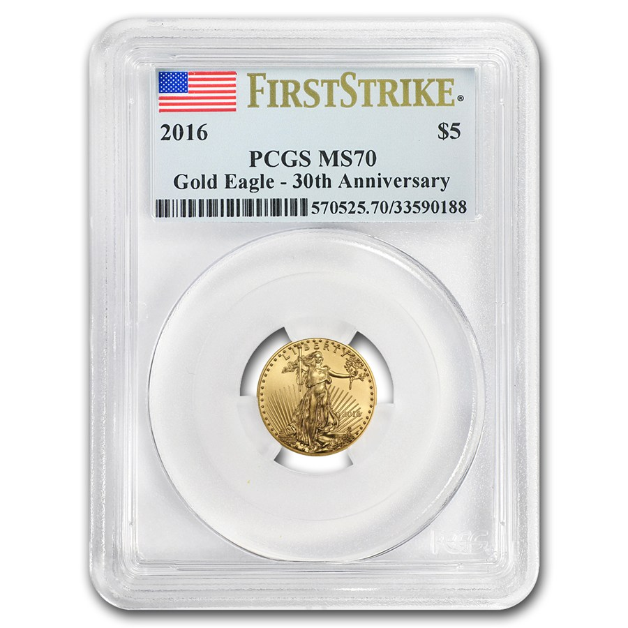2016 1%2F10 oz Gold American Eagle MS-70 PCGS (FS)
