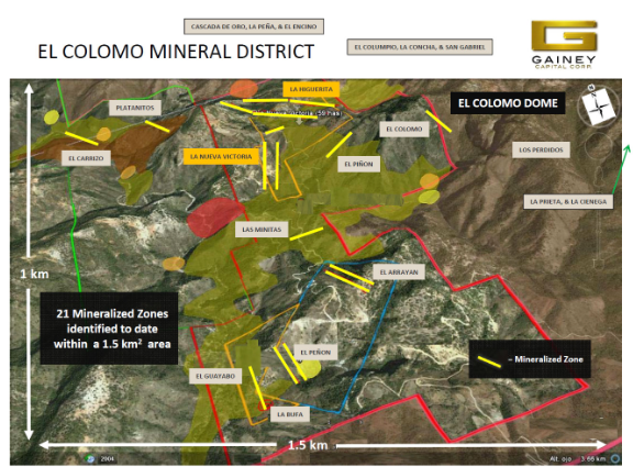 el colomo mineral district map