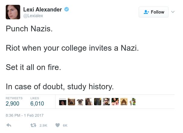 Lexi Alexander Calls for Violence