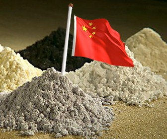 China Flag on Rare Earths
