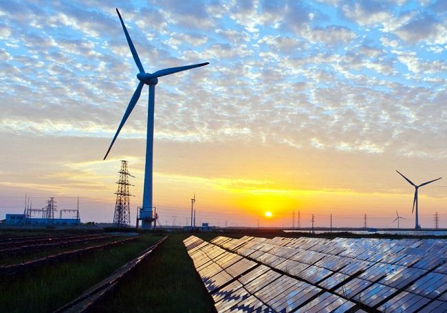 Renewable Sunset Grid