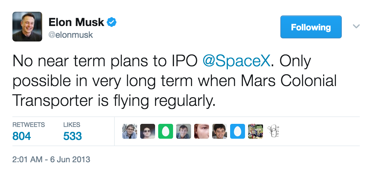 SpaceX IPO