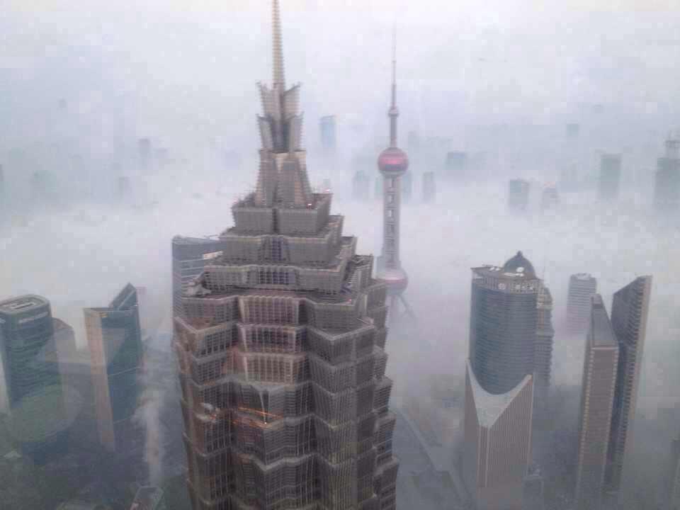 China Sinking Smog