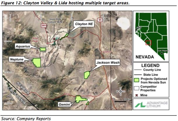 clayton valley lida target areas