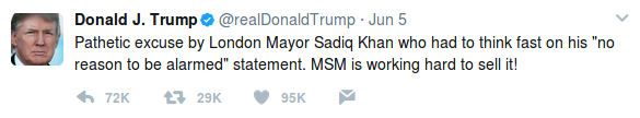 Trump London Tweet