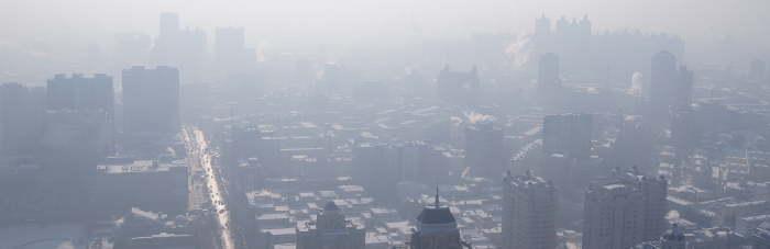 China Smog Banner